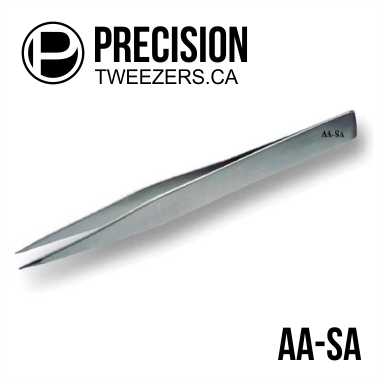 Stainless Steel Tweezers - Model AA-SA - Medical Grade Precision Tweezers - PrecisionTweezers.ca